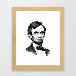 President Abraham Lincoln Framed Art Print