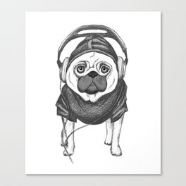 DJ Pug Canvas Print