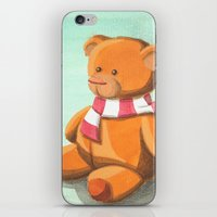 teddy bear iPhone & iPod Skins featuring Teddy by CMMart