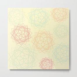 Origami Blooms Metal Print