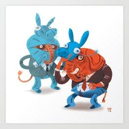 Elephants in Disguise Art Print