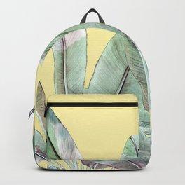 Bananas Leaves in Yellow Backpack