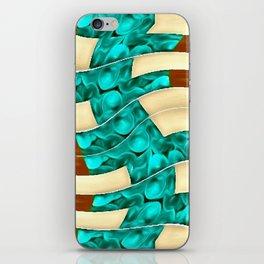 GOLD TURQ iPhone Skin