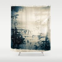 oil Shower Curtains featuring Oil Spill by Tina Vaughn