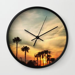 Winter sunset, 2020 from Roberta Winters Photography Wall Clock