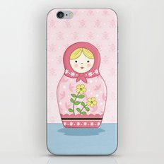 Matryoshka Doll (pink) iPhone & iPod Skin