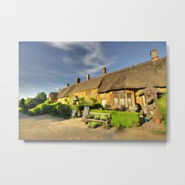 Thatched Cottages at Great Tew  Metal Print