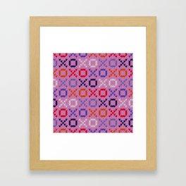 XOXO pattern - pink Framed Art Print
