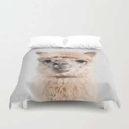 Alpaca - Colorful Duvet Cover