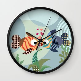 Love Fish Wall Clock
