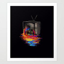 WATCHING RAINBOW Art Print