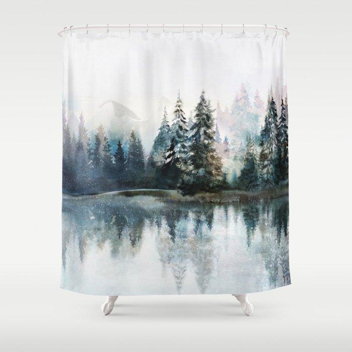 Winter Morning Shower Curtain
