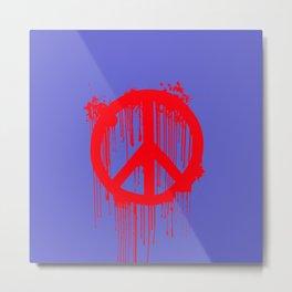 Banksy World Peace Metal Print
