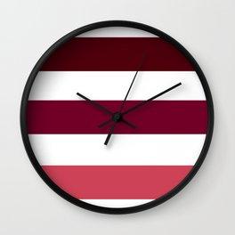 Pink Summer Pattern Wall Clock