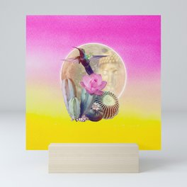 "Entheogen Meskalin Spirit - Lophophora ""Peyote"" Williamsii Mini Art Print"