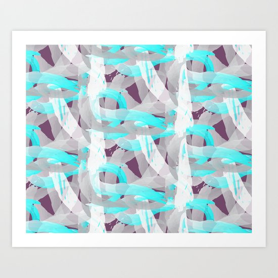Out of the blue pattern Art Print