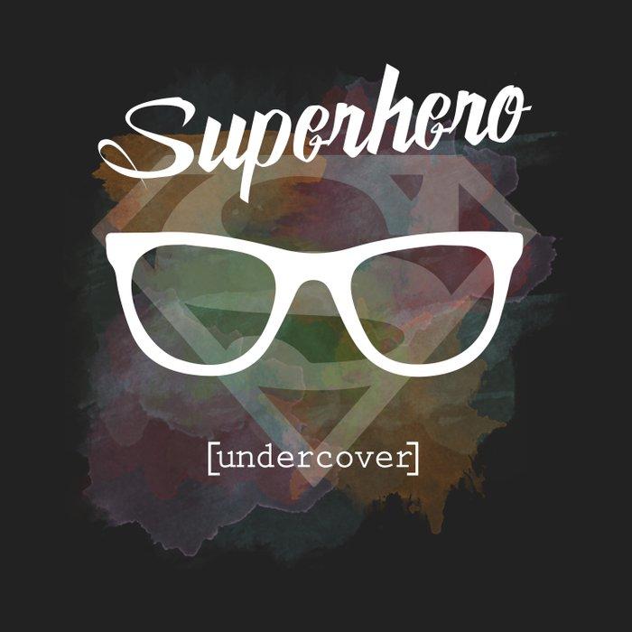 Superhero undercover Duvet Cover
