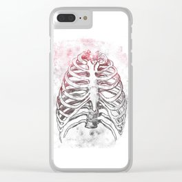 Damaged Ribs Clear iPhone Case