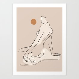 Nude 2 Art Print