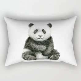 Panda Baby Watercolor Rectangular Pillow