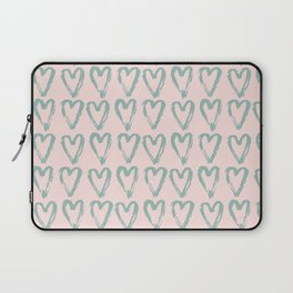 Love Heart Pattern - Mix & Match with Simplicty of life Laptop Sleeve