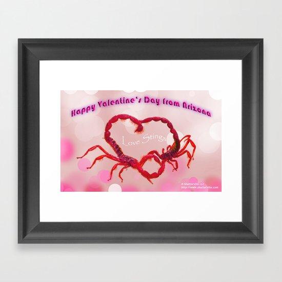 Love Stings Framed Art Print