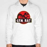 fitness Hoodies featuring GYM RAT BODYBUILDING FITNESS by Workout Quotes