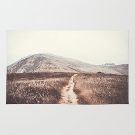 Sandy Path through Coastal Hills Rug