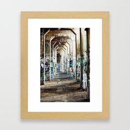 Grafitti Pier Framed Art Print