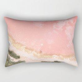iOS 11 Rose Gold iPad background Rectangular Pillow