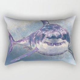 Great White Shark Rectangular Pillow