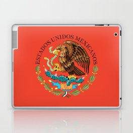 Mexican National Coat of Arms & Seal on Adobe Red Laptop & iPad Skin