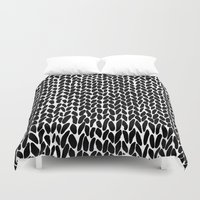 lawyer Duvet Covers featuring Hand Knitted Black S by Project M