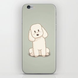 Toy Poodle Dog Illustration iPhone Skin
