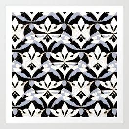 Interwoven XX - Black Art Print