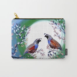 Quails and Serenity Carry-All Pouch