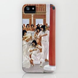 """Classical Masterpiece """"The Court of Pharaoh and the High Priestess"""" by H.M. Herget iPhone Case"""