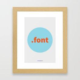 Fonts vs Typefaces (Solo) Framed Art Print