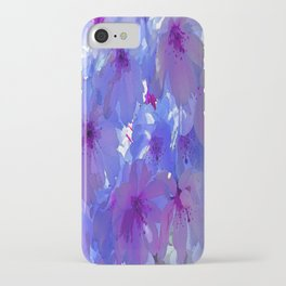 Blue Cherry Blossoms iPhone Case