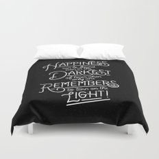 Happiness can be found Duvet Cover