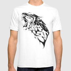 Tiger Growl MEDIUM Mens Fitted Tee White