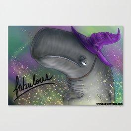 Fabulous Wizard Whale Canvas Print