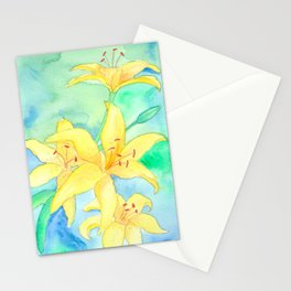 Lilies Stationery Cards