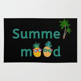 Summer Mood Pineapple Palm Trees Rug