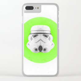 Low Poly Stormtrooper Clear iPhone Case