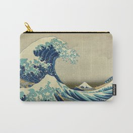 The Great Wave Off Kanagawa by Katsushika Hokusai (c. 1830) Carry-All Pouch