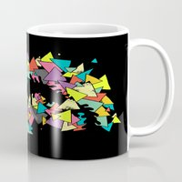 triangles Mugs featuring Triangles  by AtomicChild