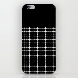 Dotted Grid Boarder Black iPhone Skin