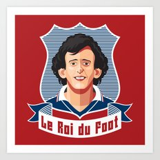 Le Roi du foot Art Print
