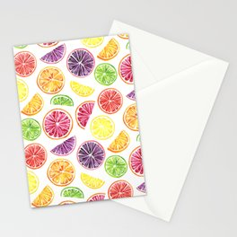 Citrus Wheels Stationery Cards